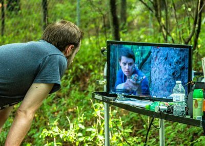 TK2 Films Shoot: Tommy Kraft at the director's monitor