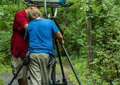 TK2 Films Shoot: Grips Placing an 18k HMI