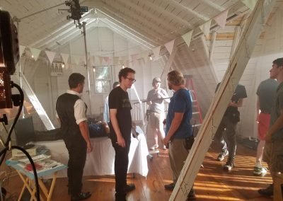 TK2 Films Shoot: Scene Preparation and Camera Rig